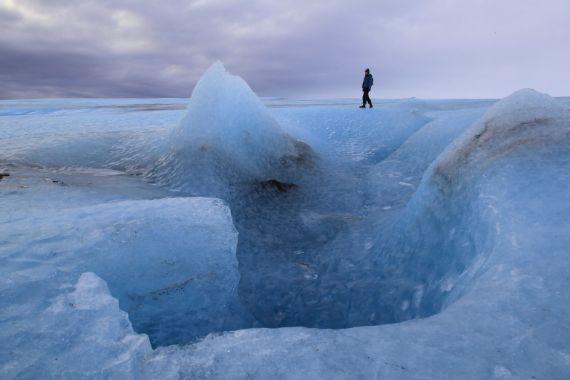 Glacier Walk Iceland Blue Iceland
