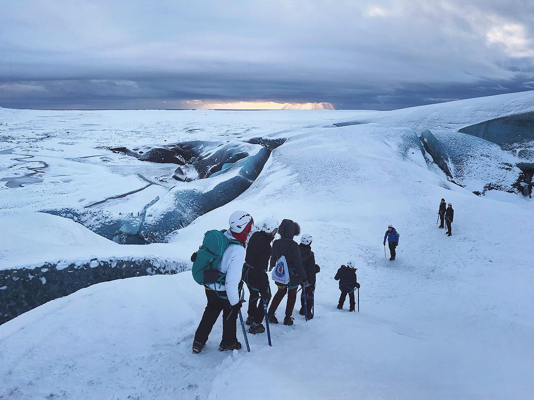 Glacier Walk Group on Vatnajökull - Blue Iceland