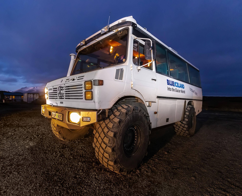 Blue Iceland Glacier Vehicle Unimog