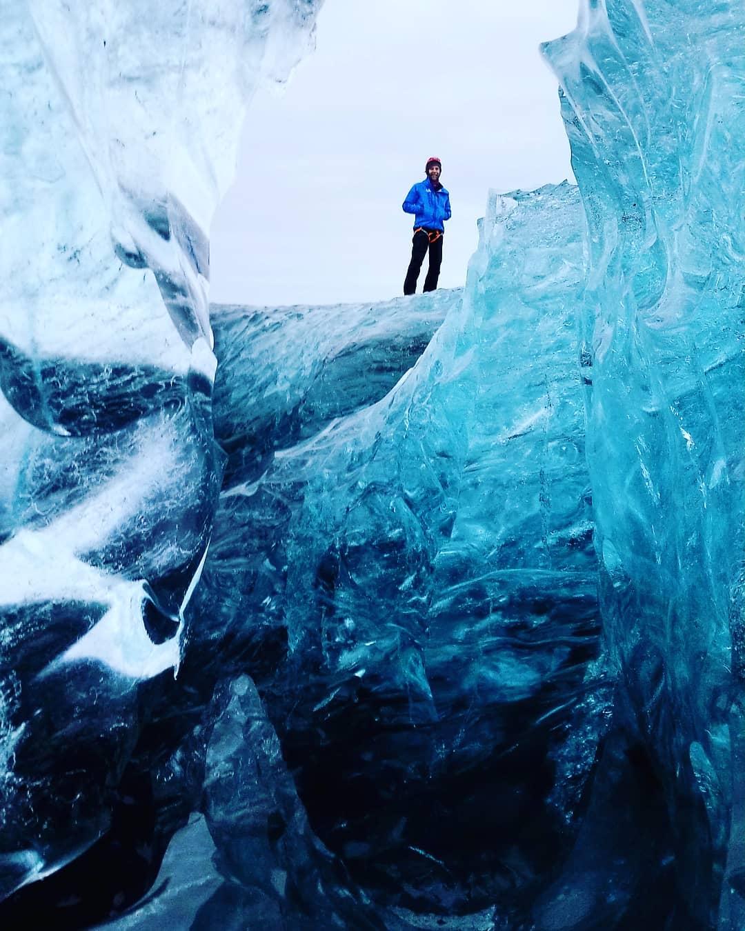 Blue ice of Vatnajökull - glacier tour.