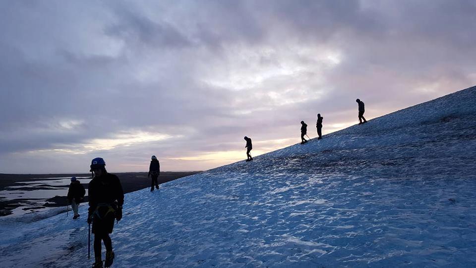 Blue Iceland Glacier Walk tour on Vatnajökull, Iceland.