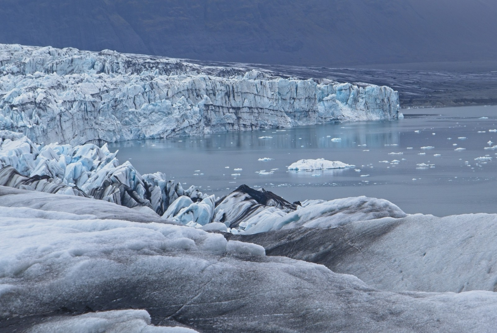 Blue Steel - Ice Calving into Jökulsárlón (Glacier Lagoon) Photo: Steinþór Birgisson